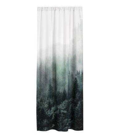 Gordijn met fotoprint | Wit/landschap | Home | H&M NL - Home Sweet ...