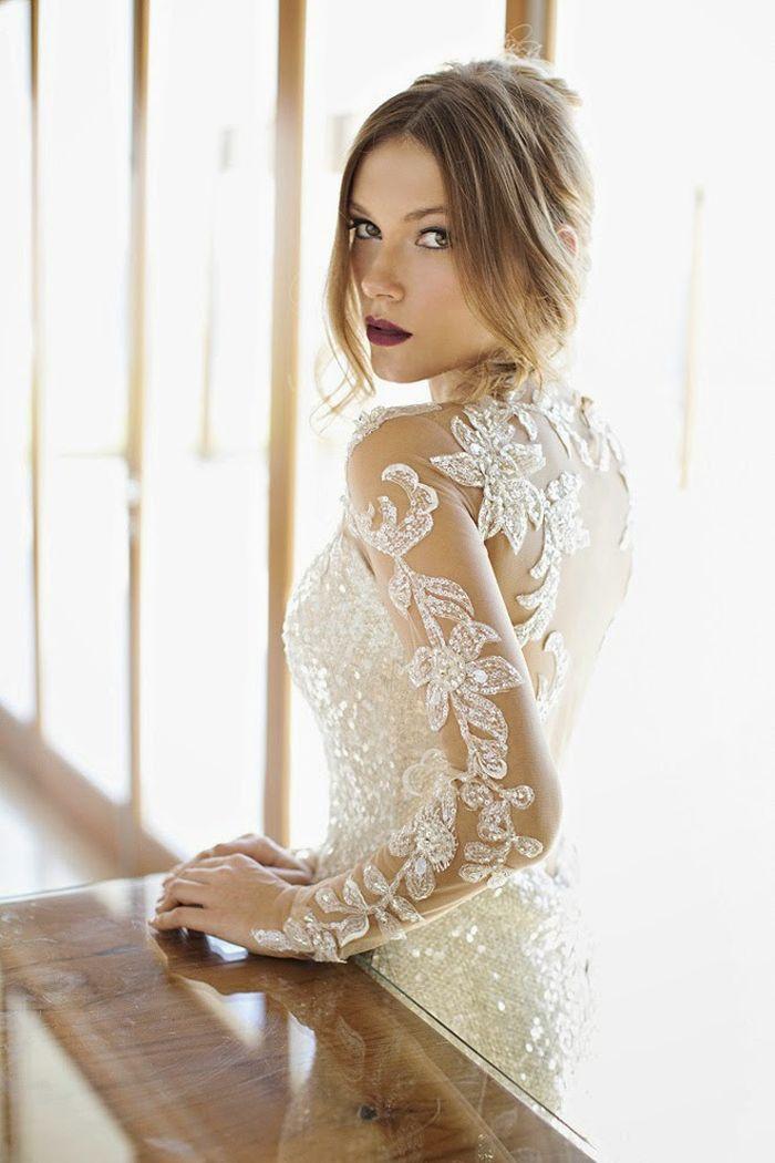 Designer Brautkleider von Julie Vino-figurbetontes Hochzeitskleider ...