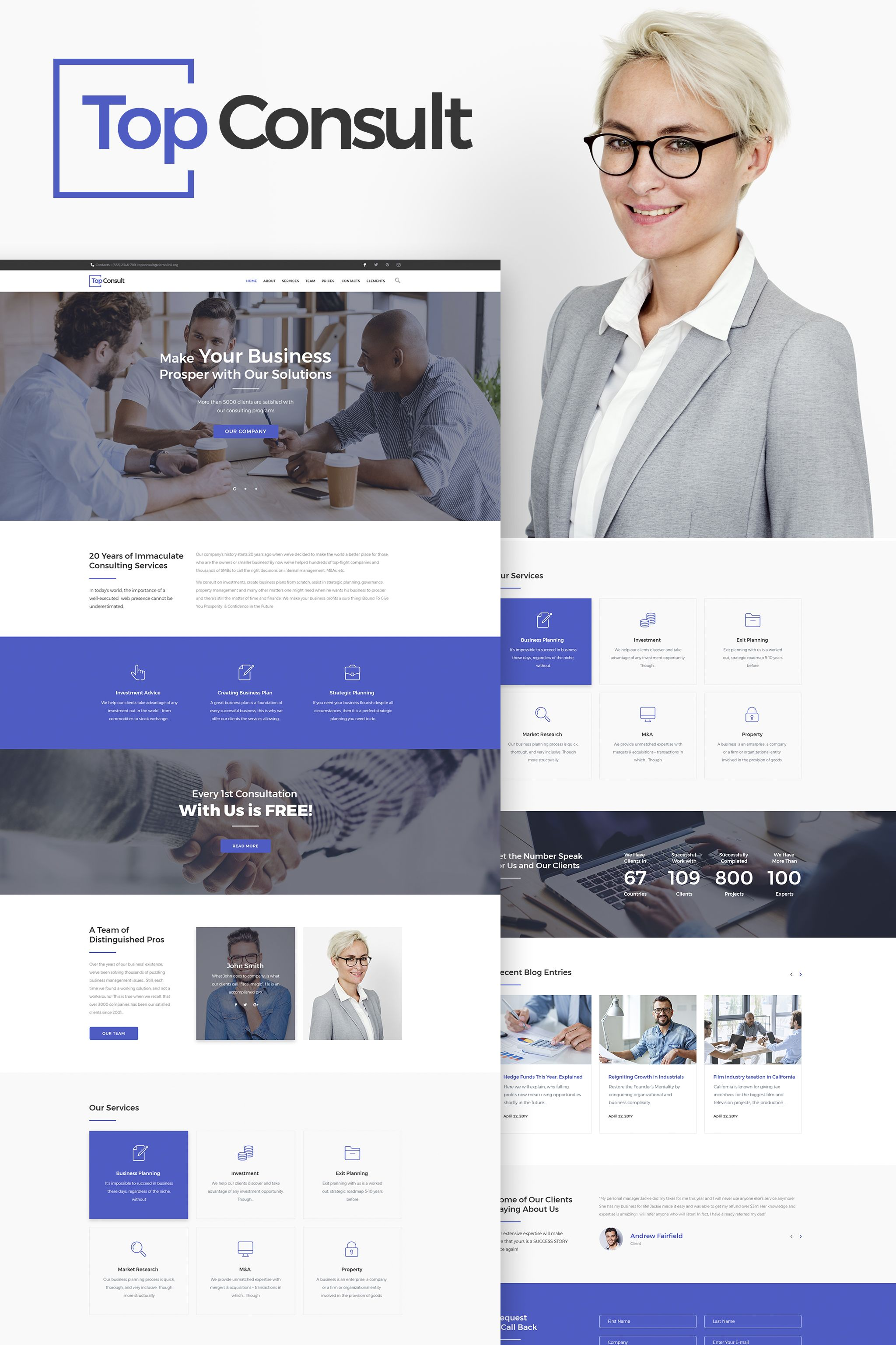 Topconsult business consulting wordpress theme big screenshot ui wordpress templates for business best wordpress business themes accmission Images
