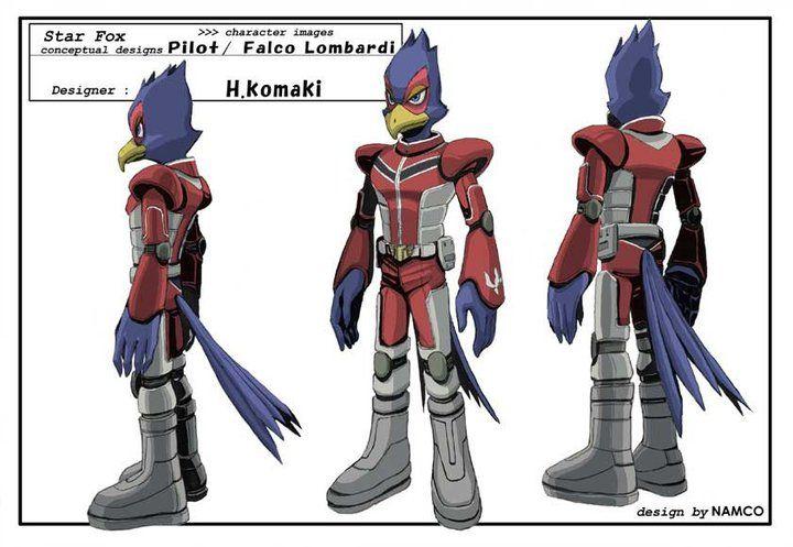 Falco Lombardi Assault Concept Art Star Fox Game Concept