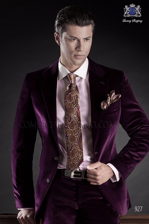 latest coat pant designs italian purple velvet men suit groom