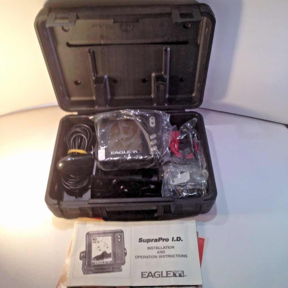 Eagle suprapro id fish finder with bracket transducer and power cable