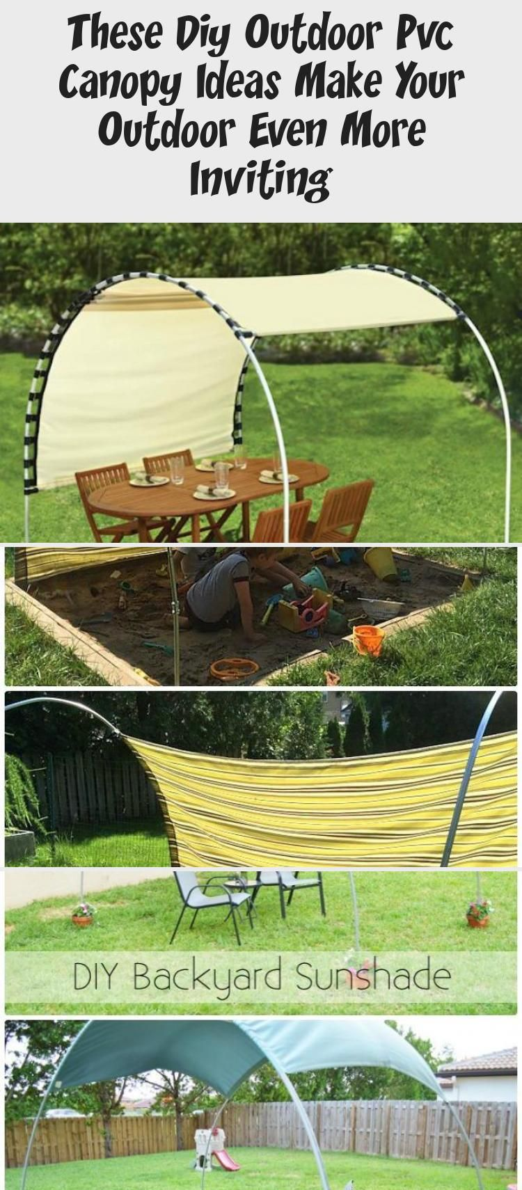Diy outdoor pvc canopy projects and instructions create