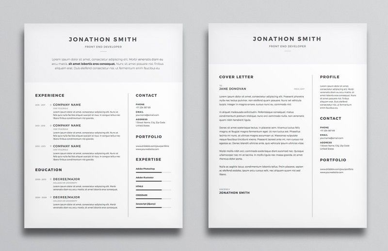 Freebies Go - Clean Resume CV #resume #template #cv #illustrator - go resume