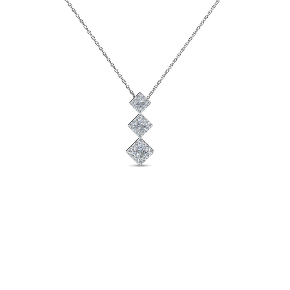 in product platinum diamond pendant blue princess floating cut signature nile solitaire