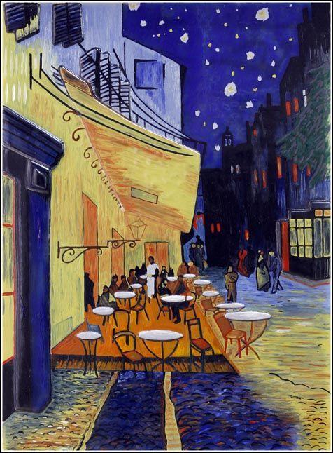 Cafe Terraza De Café Por La Noche Place Du Forum Arlés
