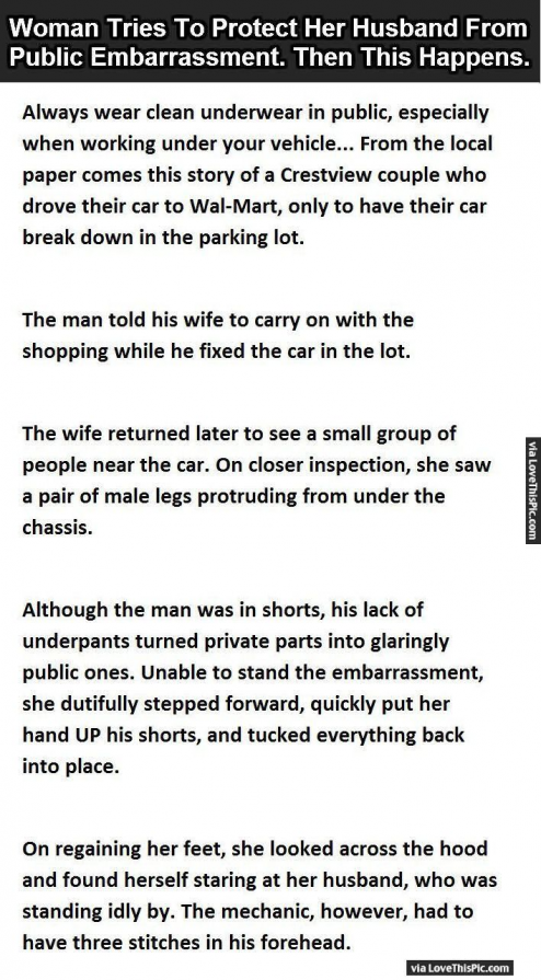 Woman Tries To Protect Her Husband From Public Embarrassment Then This Happens Funny Jokes Story Lol Funny Qu In 2020 Husband Jokes Funny Marriage Jokes Marriage Jokes