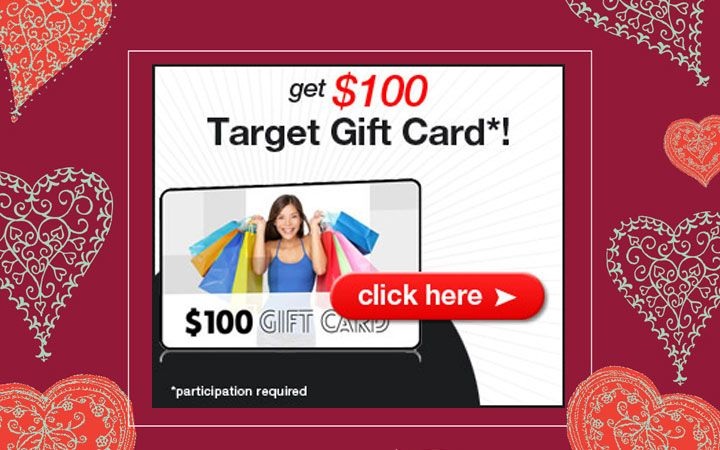 Get a 100 target valentines day gift card one field