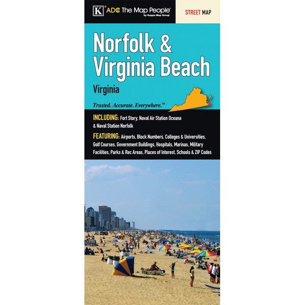Norfolk/Virginia Beach Fold Map (Set of 2)