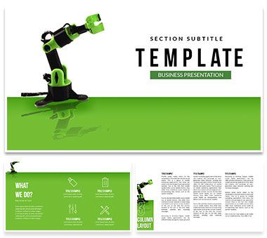 manufacturing robots powerpoint template powerpoint templates