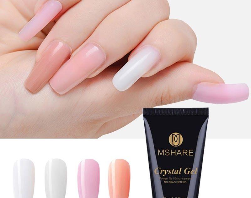 Discount Mshare Crystal Gel Quick Building Jelly Poly Gel Polygel Nail Gel Uv Led Hard Gel Acrylic Builder Clear Pink Tube Gel Nails Polygel Nails Hard Gel