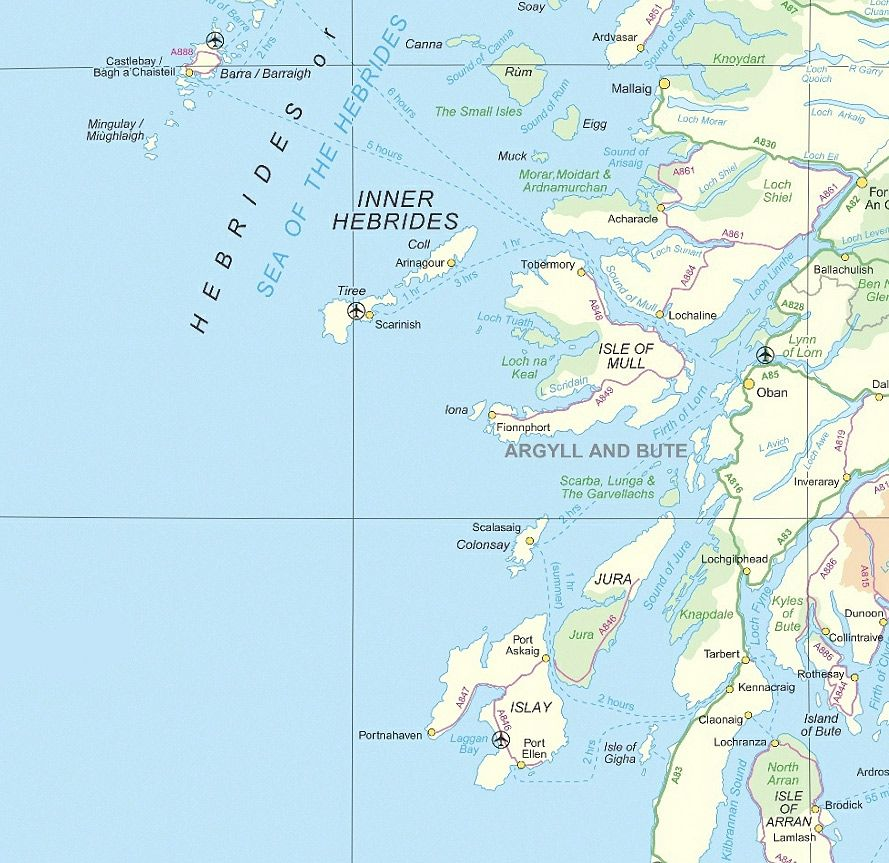 Inner Hebrides Map Inner Hebrides Map | Places I Like | West coast scotland, Scottish