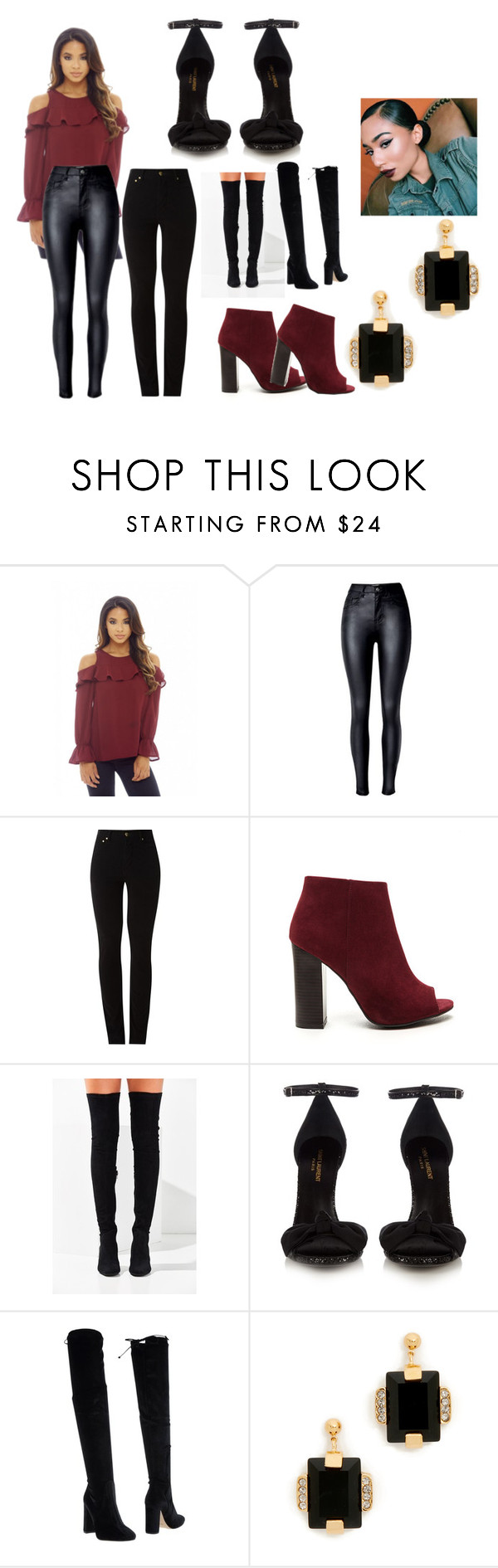 """""""Happy Bornday"""" by kforkeeps on Polyvore featuring AX Paris, Amapô, Jeffrey Campbell, Yves Saint Laurent, Bianca Di and Marni"""
