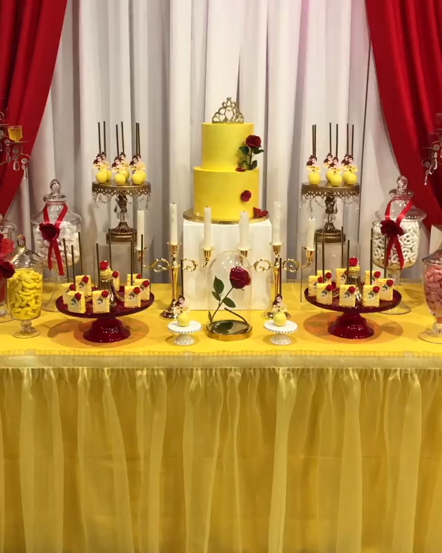 Beauty and The Beast Dessert Table by Rachel Js Special Events -   12 beauty And The Beast birthday ideas