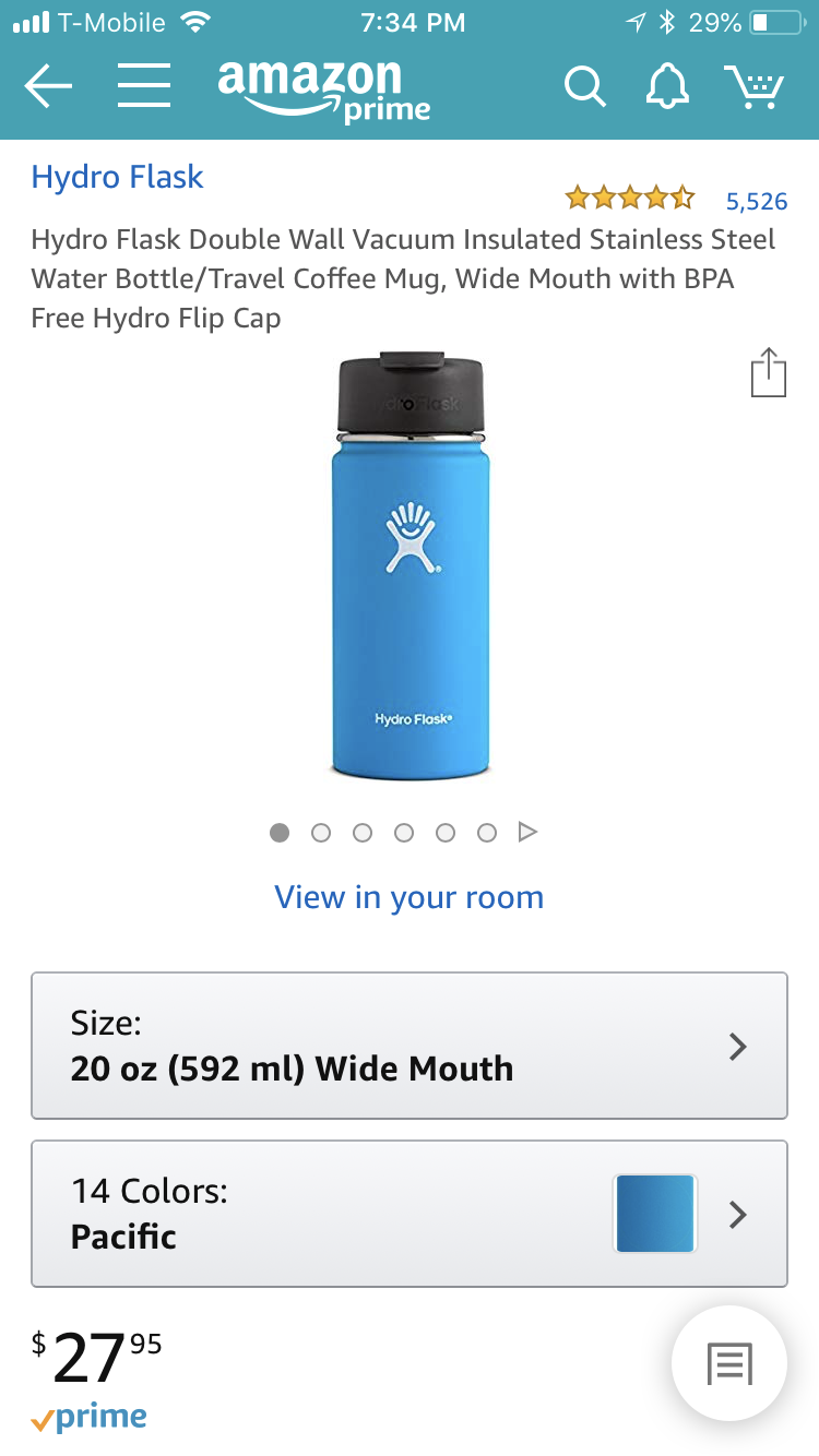Hydro Flask 20 oz Double Wall Vacuum Insulated Stainless
