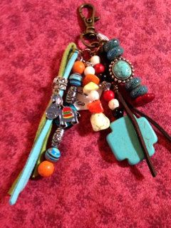 Southwest keychain/zipper pull by JansBeadCreations on Etsy, $15.00