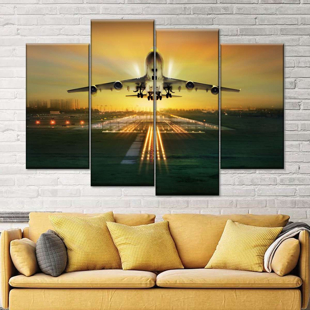 Boeing 747 Multi Panel Canvas Wall Art Airplane Wall Art Wall Canvas Multi Panel Canvas