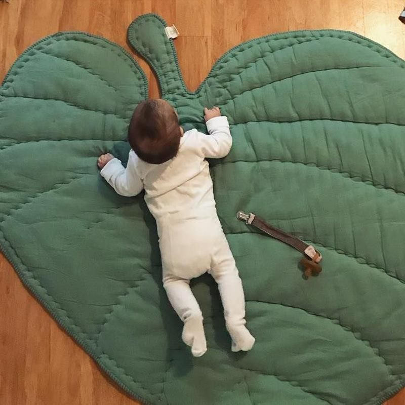 Baby Crawling Leaves Play Game Gym Activity Cotton Blanket Rug Floor Mat Kids