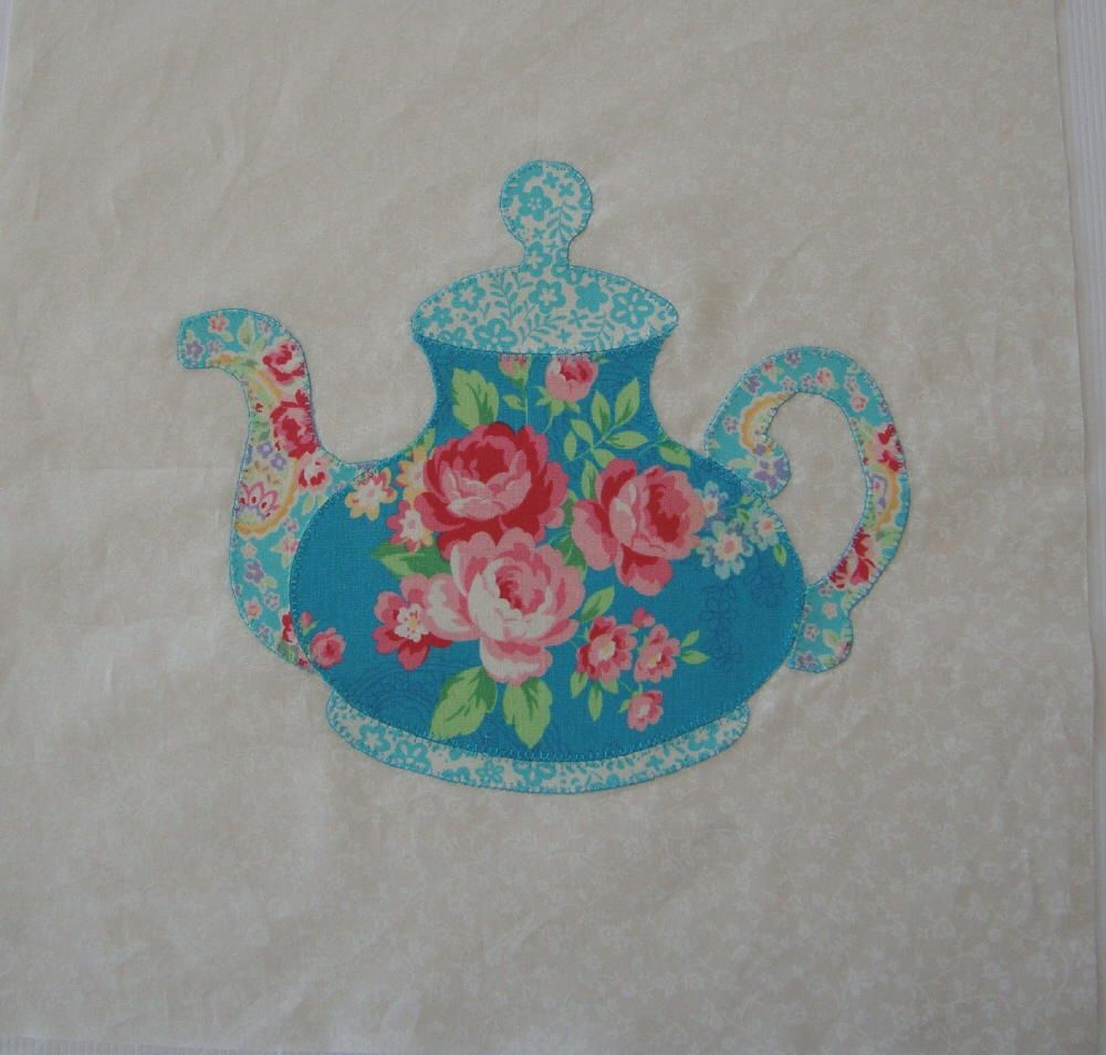Heres The 2nd Teapot Quilt Block For The Swap Quilting