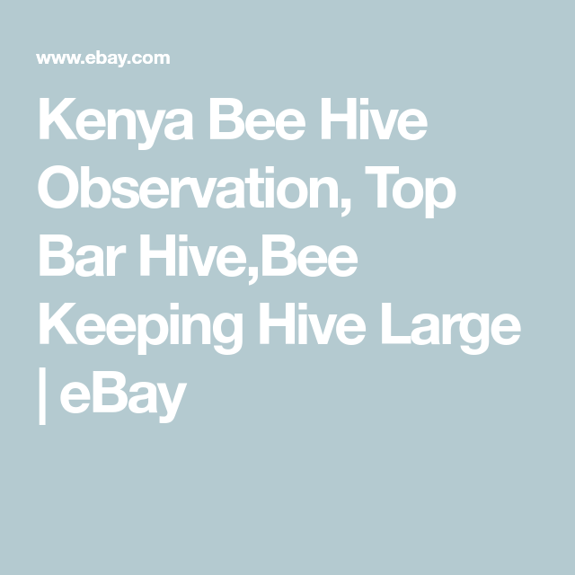 Kenya Bee Hive Observation, Top Bar Hive,Bee Keeping Hive