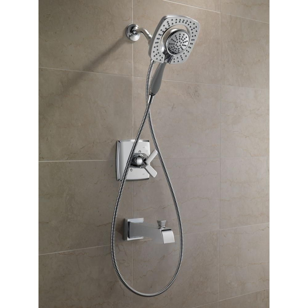 Delta Ashlyn In2ition 1-Handle Tub and Shower Faucet Trim Kit in Chrome (Valve Not Included)-T17464-I - The Home Depot