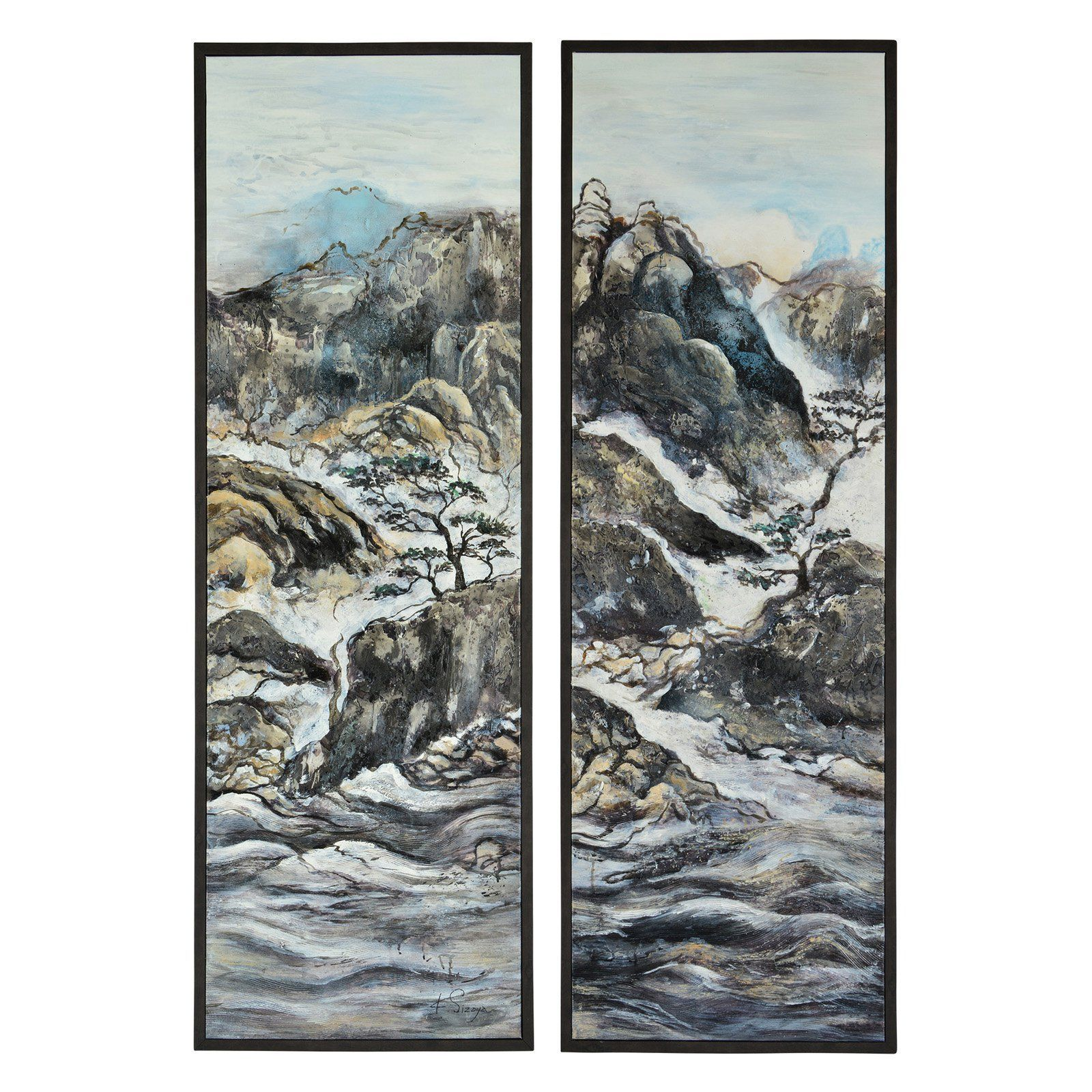 Renwil Supra Framed Wall Art - Set of 2 - OL1523   Products   Pinterest