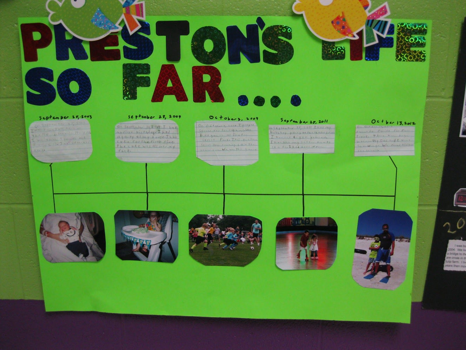 Timeline projects | Kindergarten | Pinterest | Timeline project ...