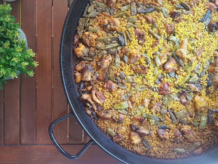 Paella Valenciana Paella Valencienne Et Espagnole Rezept
