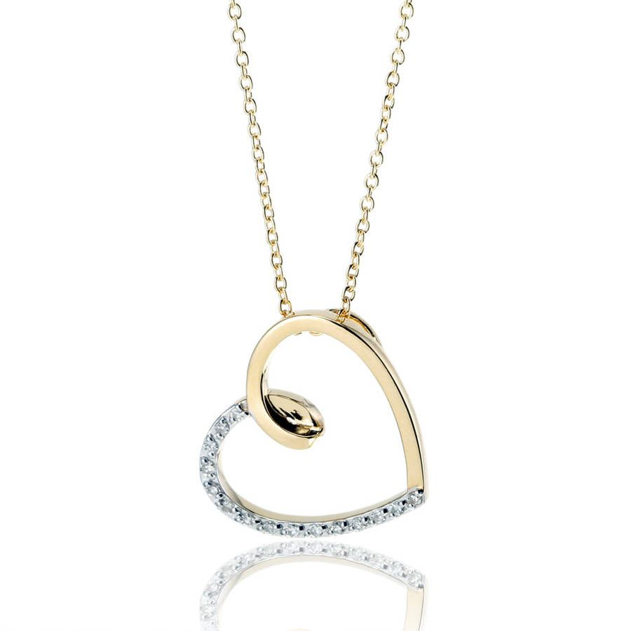 collier femme or coeur