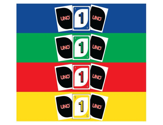 INSTANT DOWNLOAD Four 2 X 875 Uno Water Bottle Labels Directions 1 Print Out