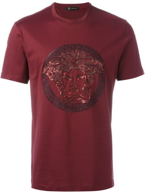 78ee21fe822 VERSACE Sequin Medusa T-Shirt.  versace  cloth  t-shirt