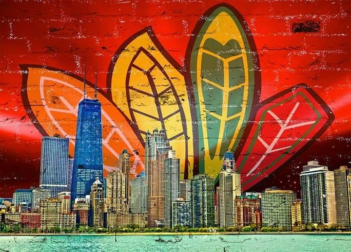 Canvas skyline image by boone mchenry on chicago wall