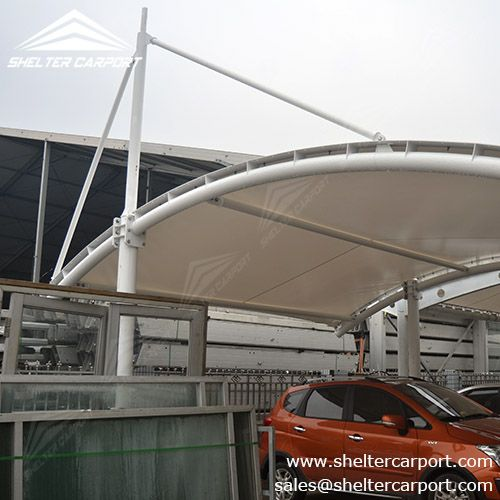 SCA05 The actural carport/canopy from Shelter ?Meter structured car shed covered with PVC & SCA05 The actural carport/canopy from Shelter ?Meter structured ...