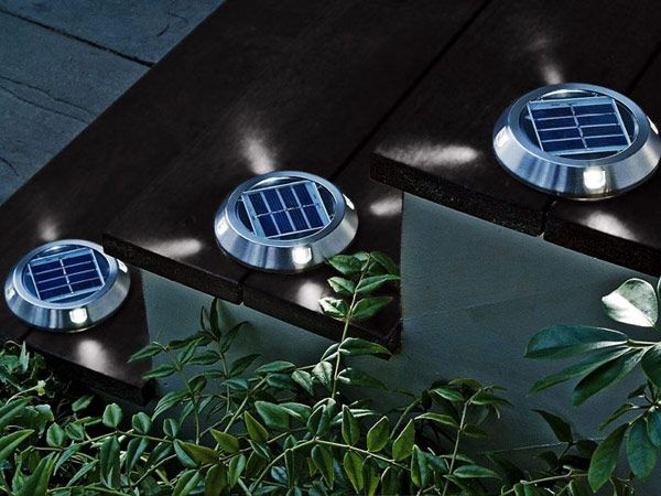 7 Ways To Bring Solar Lighting To Your Home Solar Deck Lights Residential Lighting Deck Lights