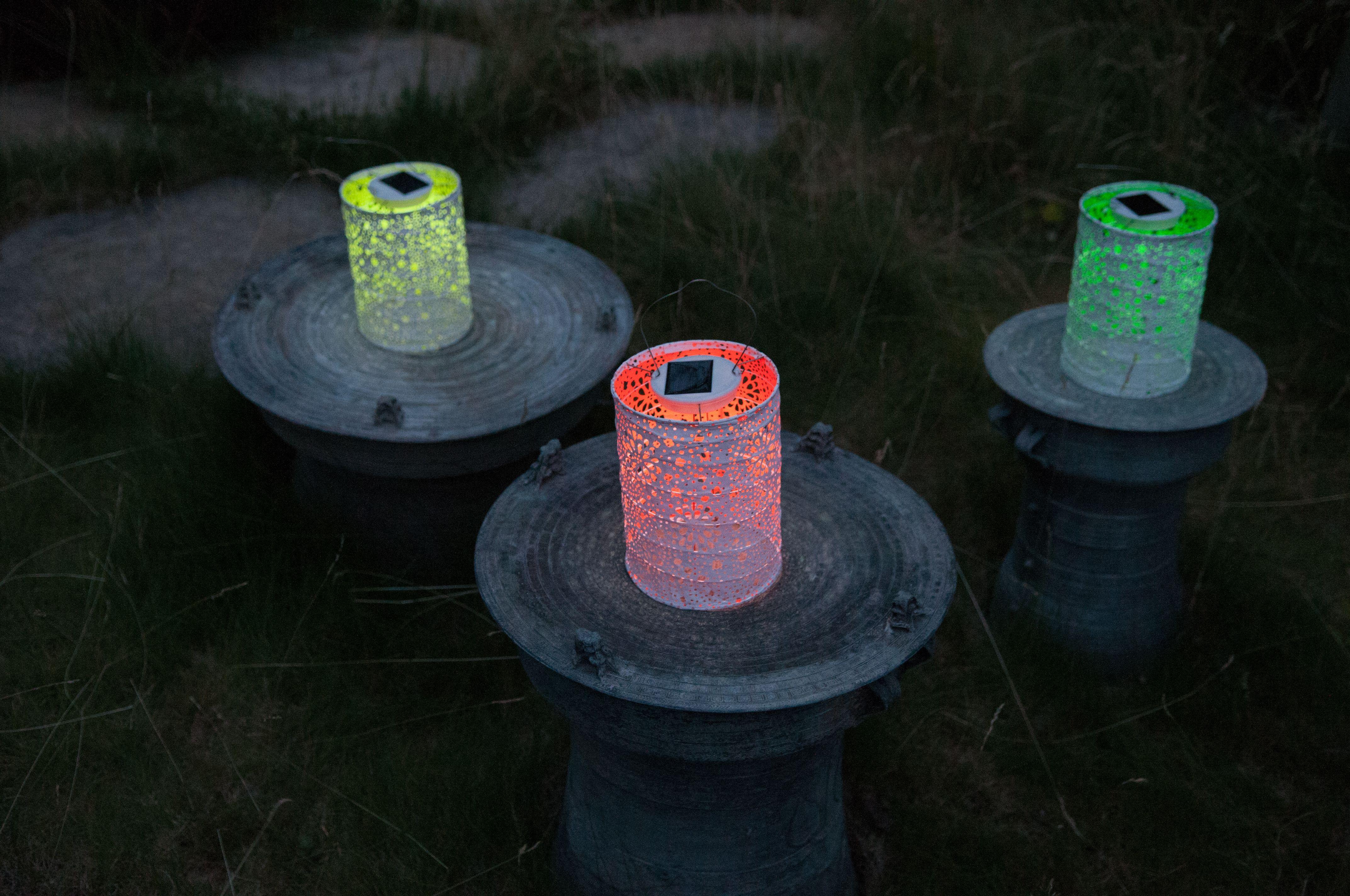 Soji Stella Solar Lanterns In NEON! Www.allsopgarden.com