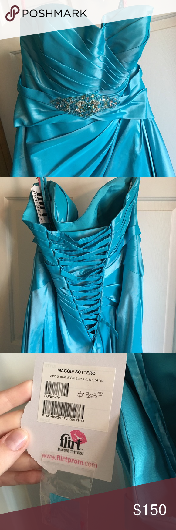 Maggie Sottero Blue Prom Dress NWT | Maggie sottero, Size 16 and ...