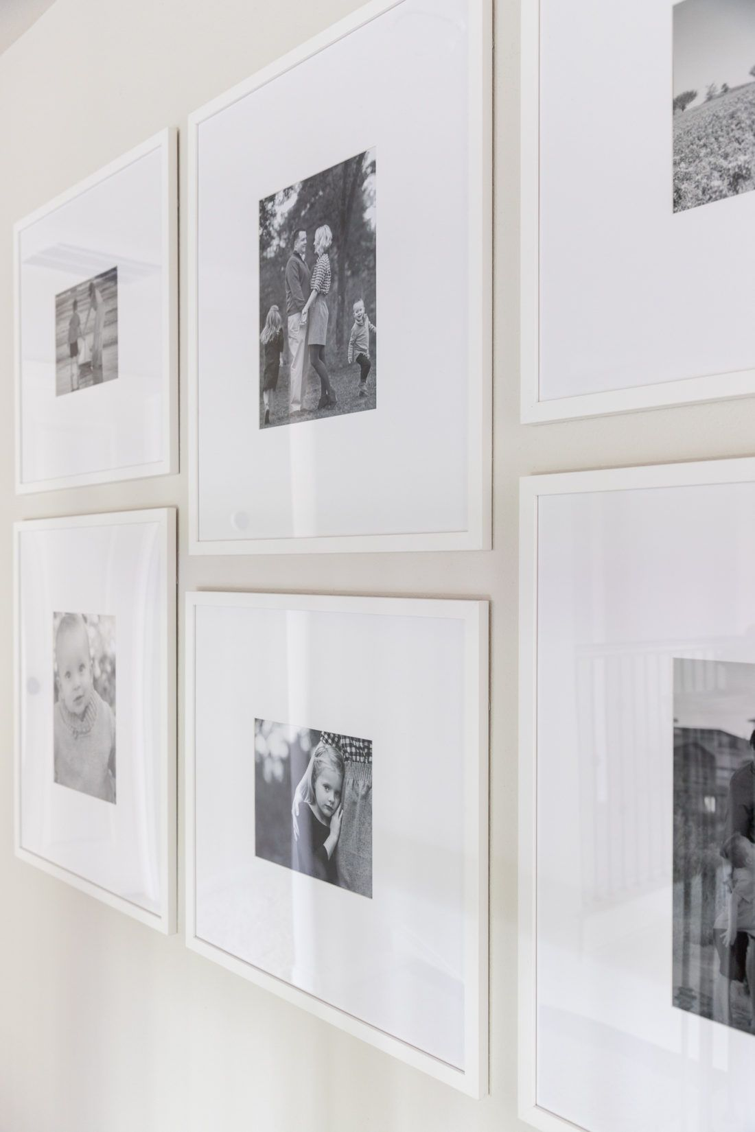 Gallery Wall With Custom Picture Frames In 2020 Simple Gallery Wall Gallery Wall Gallery Wall Frames