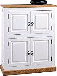 Chest of drawers Perdix 14, color: oak / white, partly solid – 118 x 9 …