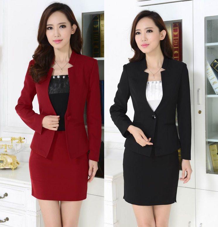 44aff52f4 Cheap Otoño invierno diseño de uniforme Formal Blazers traje profesional  para mujer de la oficina de la falda trajes chaquetas y falda para las  damas más el ...