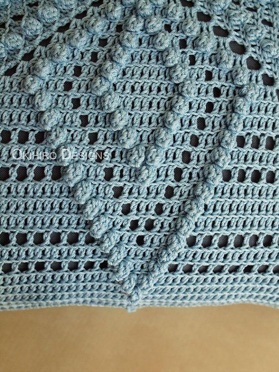 Patrón de borraja 12 Crochet cuadrados almohada listo para | solo ...