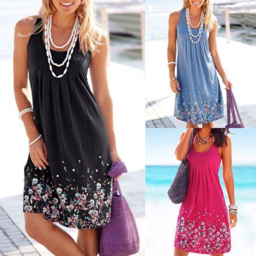 Womens Summer Short Mini Dress Ladies Sleeveless Beach Evening Party Sundress https://t.co/aVHVmzKZXa https://t.co/aVHVmzKZXa