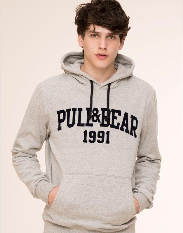 Pull Bear - hombre - básicos - sudadera capucha logo pull bear - vig-claro  - 09592543-V2016 86cb1a4568f0