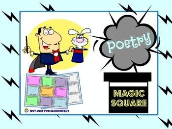 Poetry: Magic Square Puzzle - perfect station and file folder activity!