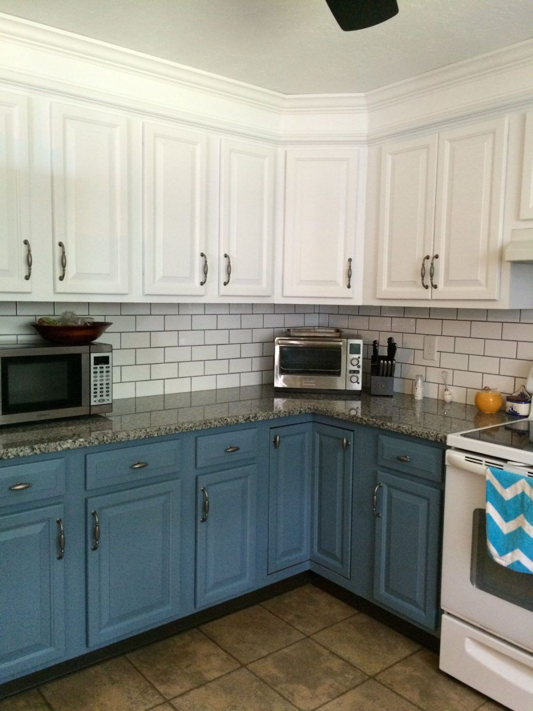 Image Result For Subway Tile Kitchen Color With Slate Appliance Upper Kitchen Cabinets Trendy Kitchen Tile New Kitchen Cabinets