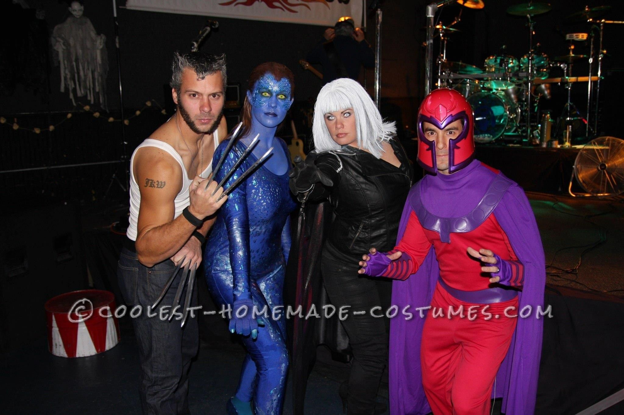 Homemade XMen Group Halloween Costume Group halloween