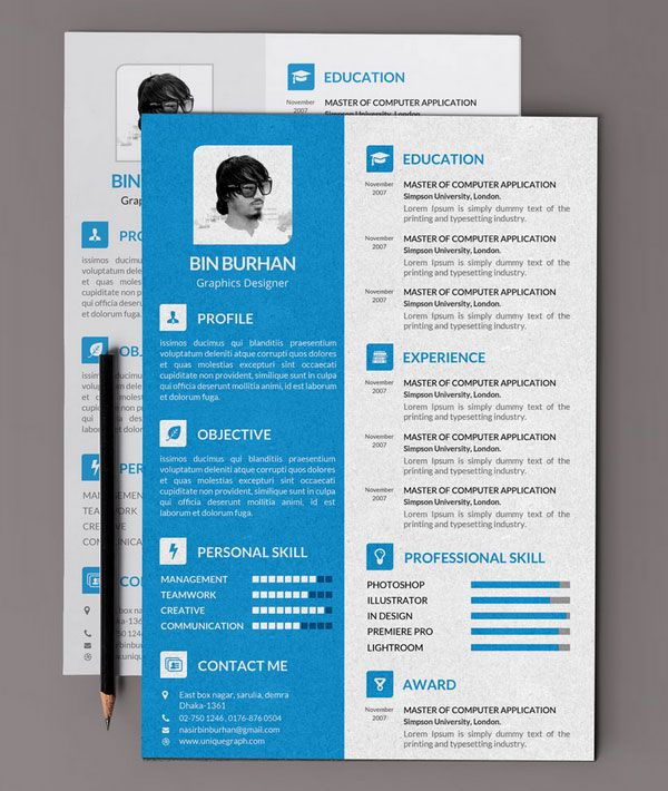 designer resume example creative - Поиск в Google design - resume template design