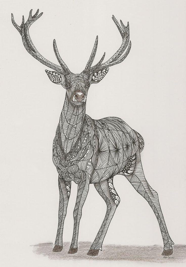 undefined Zentangle animals, Zentangle art, Zentangle