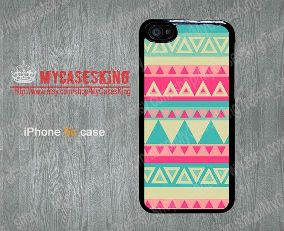 Tropical Tribal iPhone 5c case Tribal iPhone5c case Aztec iPhone 5c case iPhone 5c Hard/Rubber case-Choose Your Favourite Color by MyCasesKing, $6.99