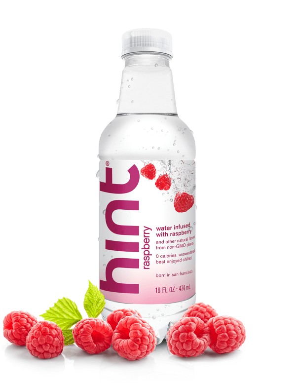 Flavored Water Raspberry Infused 16oz 12 Bottles By Hint Flavored Water Raspberry Case Hint Water
