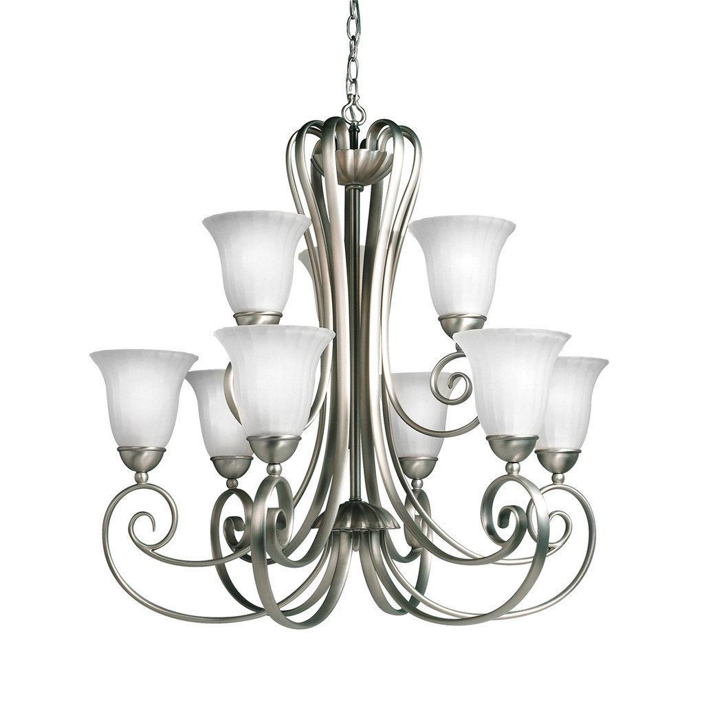 Kichler Lighting Willowmore Collection 9-light Brushed Nickel Chandelier, Silver